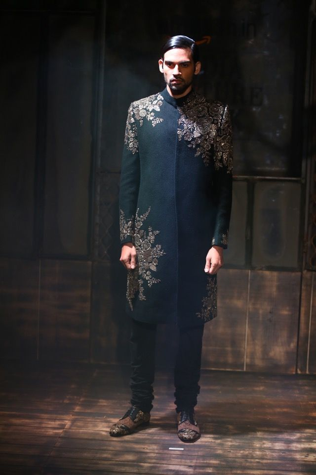 Sabyasachi men's Collection, black sherwani