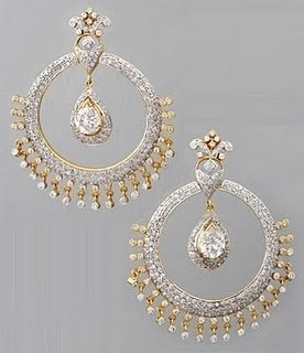 Latest Chandbali earrings designs, Ethnic jewellery, Round earrings, Heavy Earrings, jhumke, Punjabi Earrings, Indian Jewelry, bridal earrings