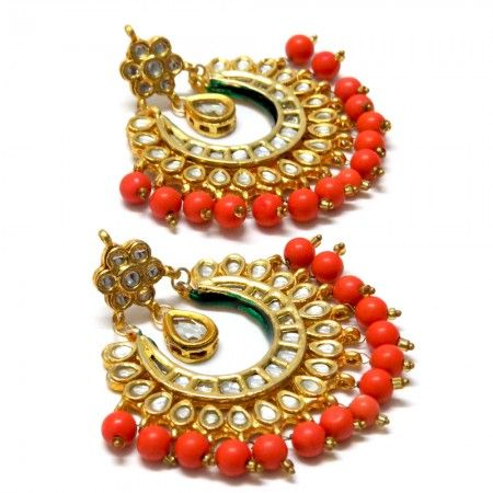 Latest Chandbali earrings designs, Ethnic jewellery, Round earrings, Heavy Earrings, jhumke, Punjabi Earrings, Indian Jewelry, bridal earrings , chandbali with pearl