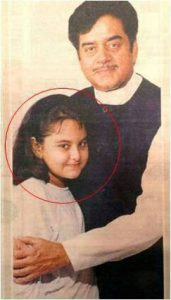 Sonakshi Sinha childhood photo