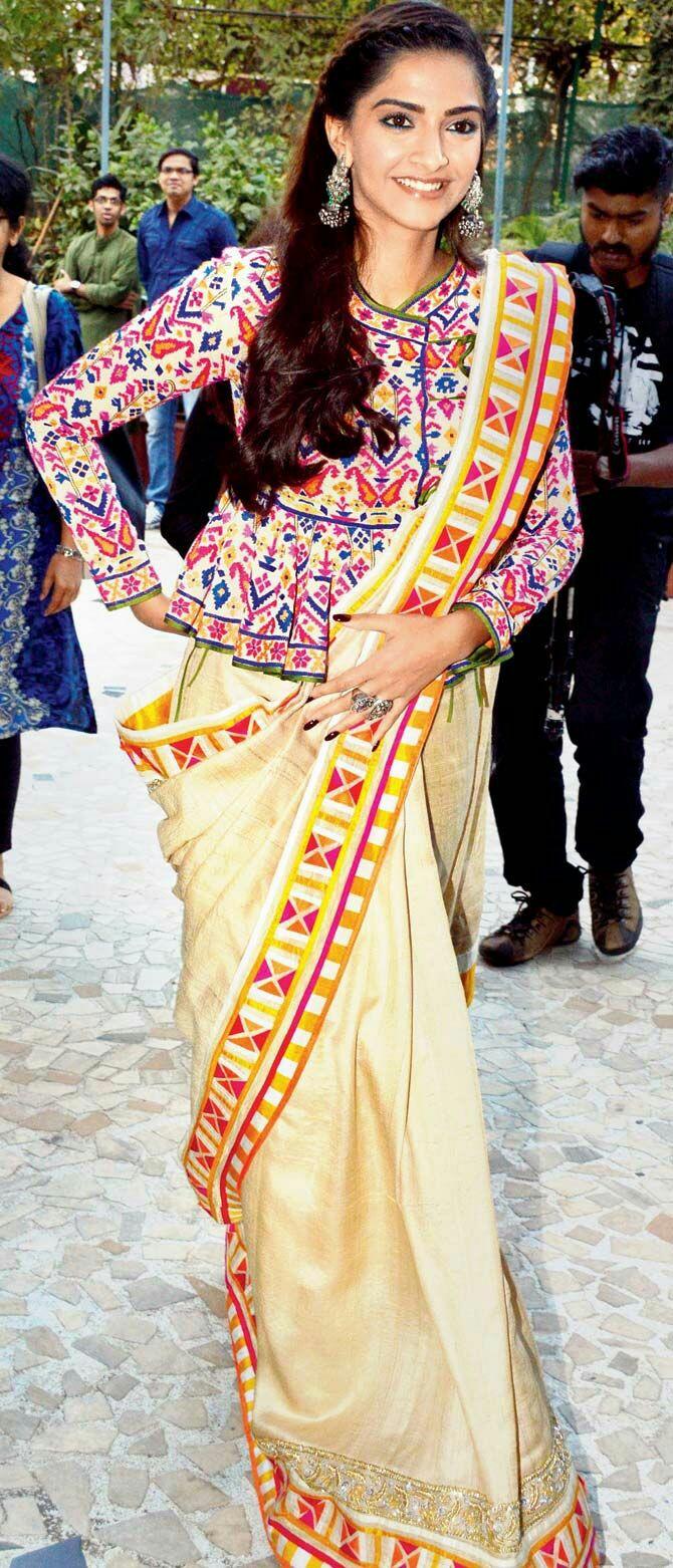 Sonam Kapoor Saree looks