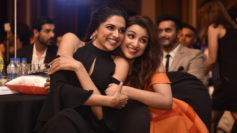Deepika padukone with Pariniti Chopra