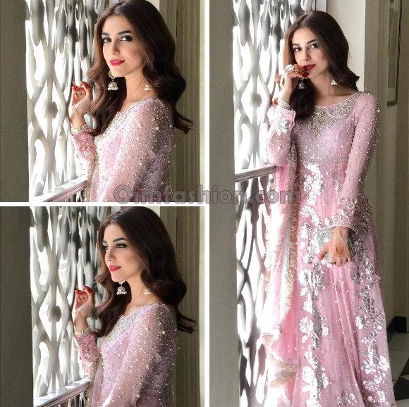 Maya Ali Pink Lehanga