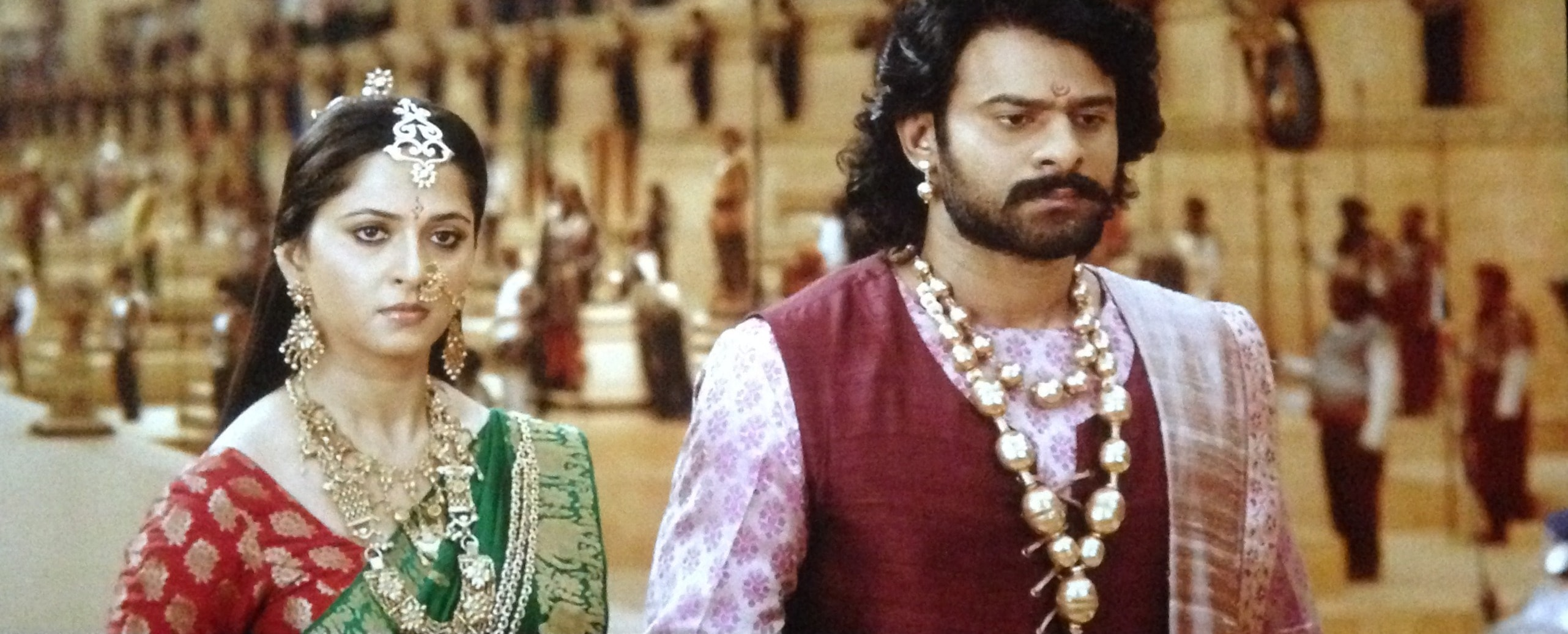 Anushka and Prabhas in Bahubali 2