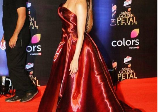 Malaika Arora Khan hot in golden petal awards