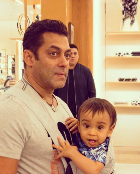 Salman Khan with Nephew Ahil Sharma