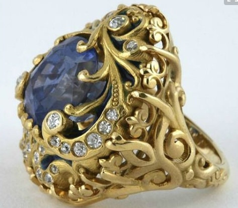 Ring designs, Rings, Vintage rings, Vintage jewellery, Metal rings, Quirky Rings, Gems Rings, Rings with stones, Blue stone rings, Topaz ring, gold ring, nag ki anguthi, pink stone ring, diamond rings