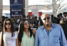 Bollywood Celebrities in Justin Bieber Concert, SHree devi family